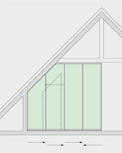 Schiebetüren und Raumteiler speziell für Dachschrägen ...